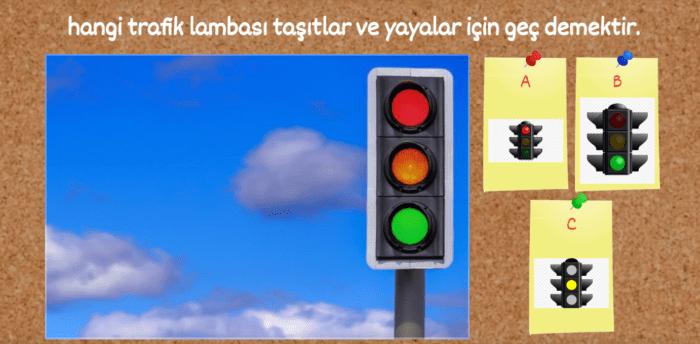 TRAFİK HAFTASI İNTERAKTİF TEST